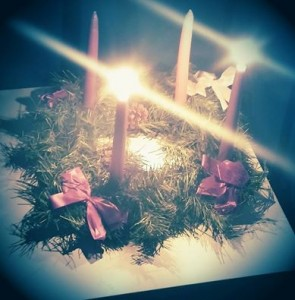 Our wreath last year on the 2nd Sunday of Advent.