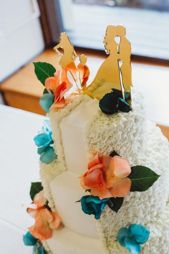 Cake w/ Family Topper